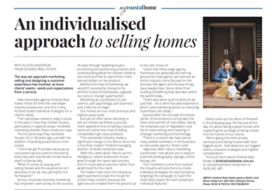 An individiualised approach to selling homes